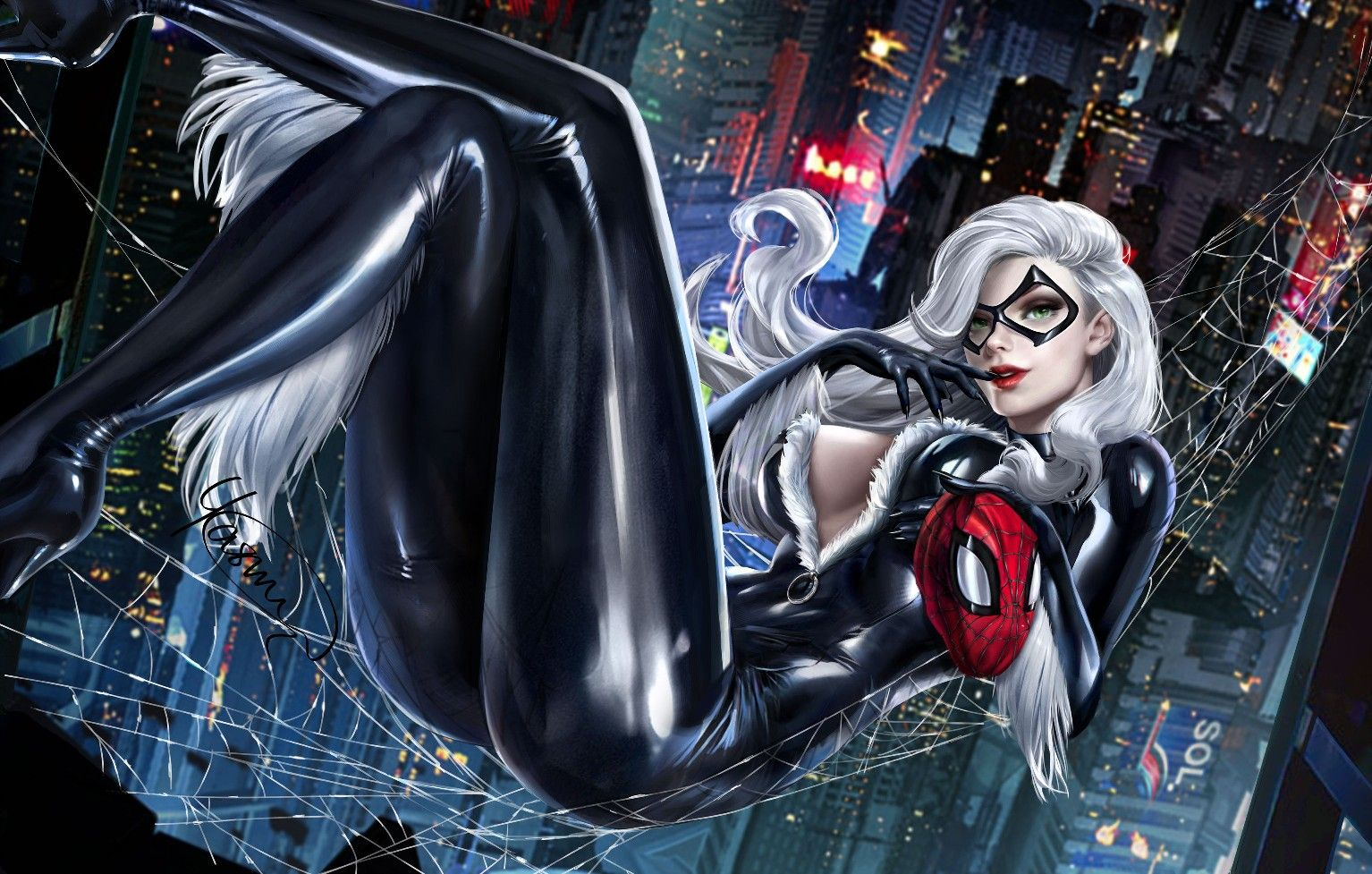 Marvel's Black Cat cosplay fan
